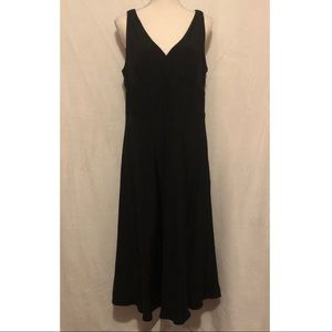 J Crew Black Silk Dress